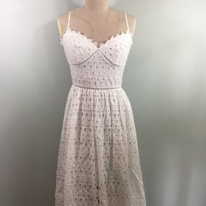 bebe // Eyelet Lace Dress // Size S // NWOT As Is